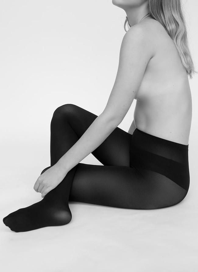 Collants 100 deniers noirs recyclés - lia - Swedish Stockings num 2
