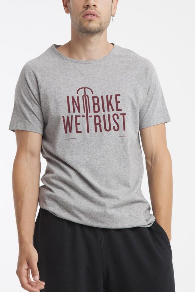 T-shirt en coton bio in bike we trust - Thinking Mu