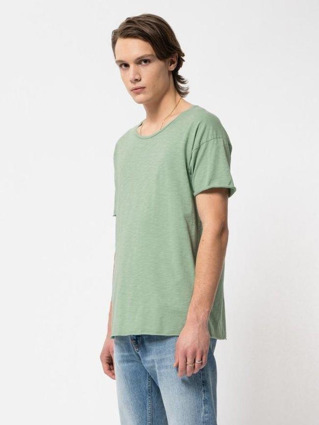 T-shirt vert en coton bio - roger - Nudie Jeans num 1