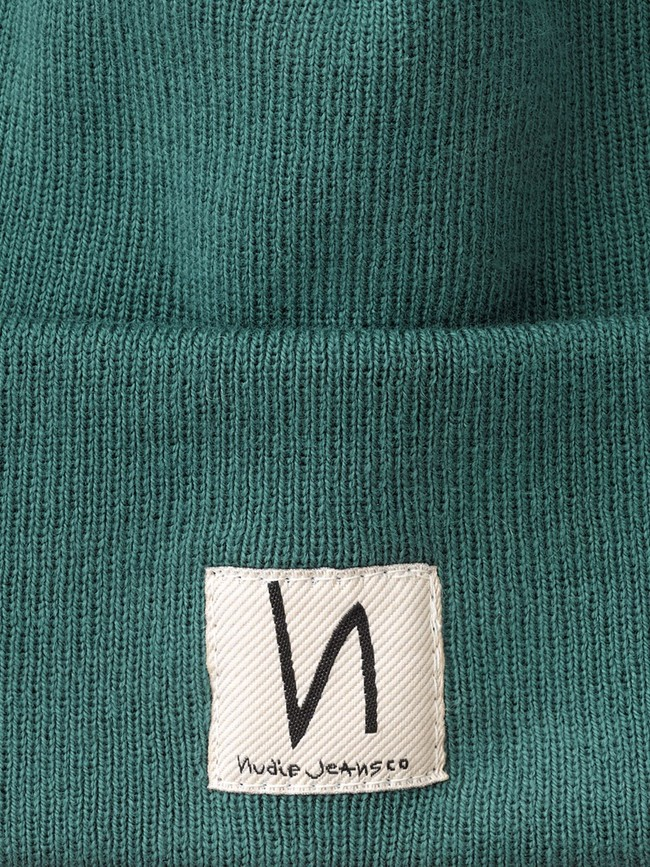 Bonnet vert d'eau en coton bio - falksson - Nudie Jeans num 1