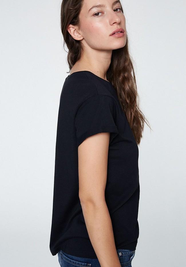 T-shirt noir en coton bio - naalin - Armedangels num 2