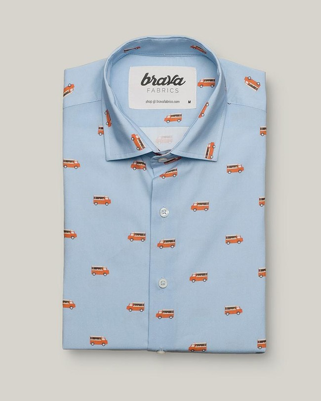 Foodtruck printed shirt - Brava Fabrics