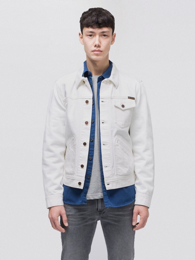 Veste en jean écru en coton bio - tommy - Nudie Jeans