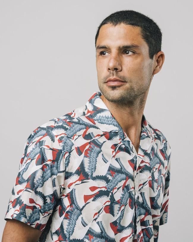 Crane for luck aloha shirt - Brava Fabrics num 4