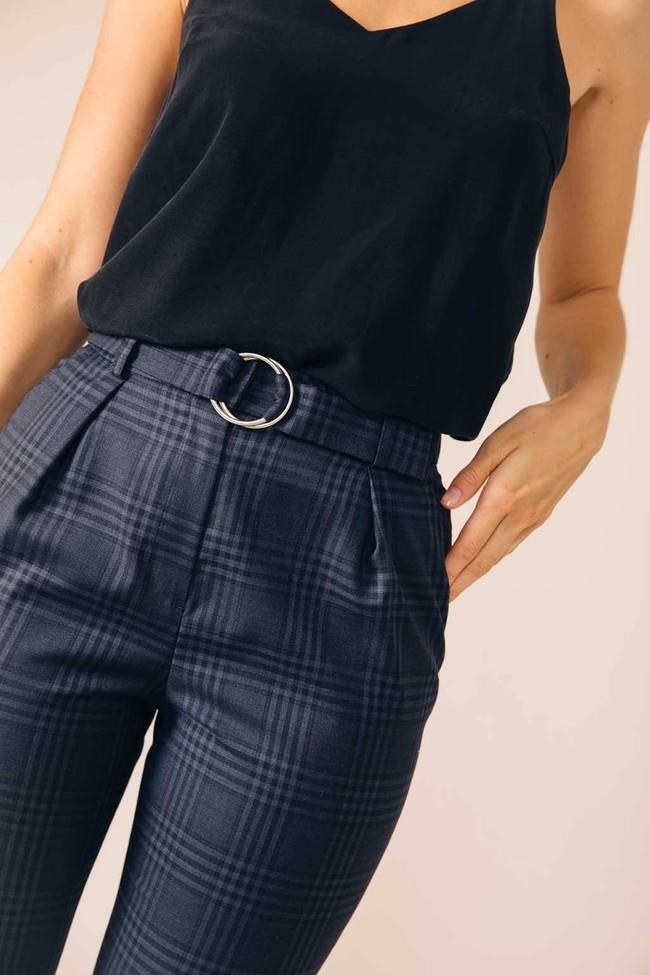 Pantalon tailleur casablanca tartan bleu - 17h10 num 1