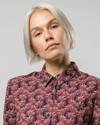 Golden flower printed blouse - Brava Fabrics - 5