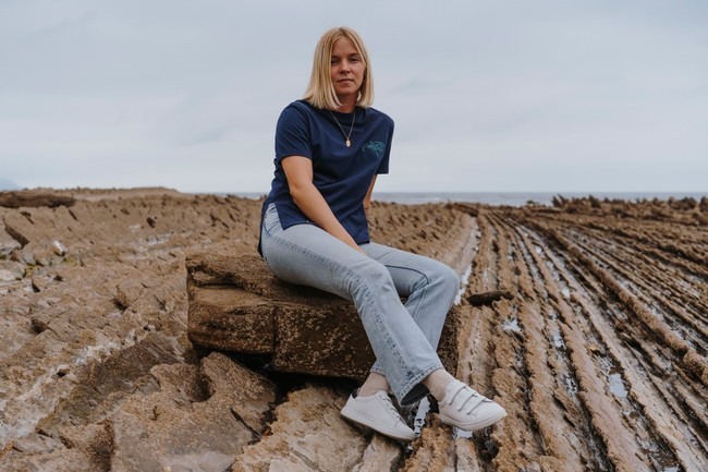 T-shirt recyclé - pure navy - Hopaal num 5