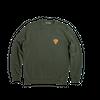 Kaki sweatshirt • orange logo - Omnia in uno - 3