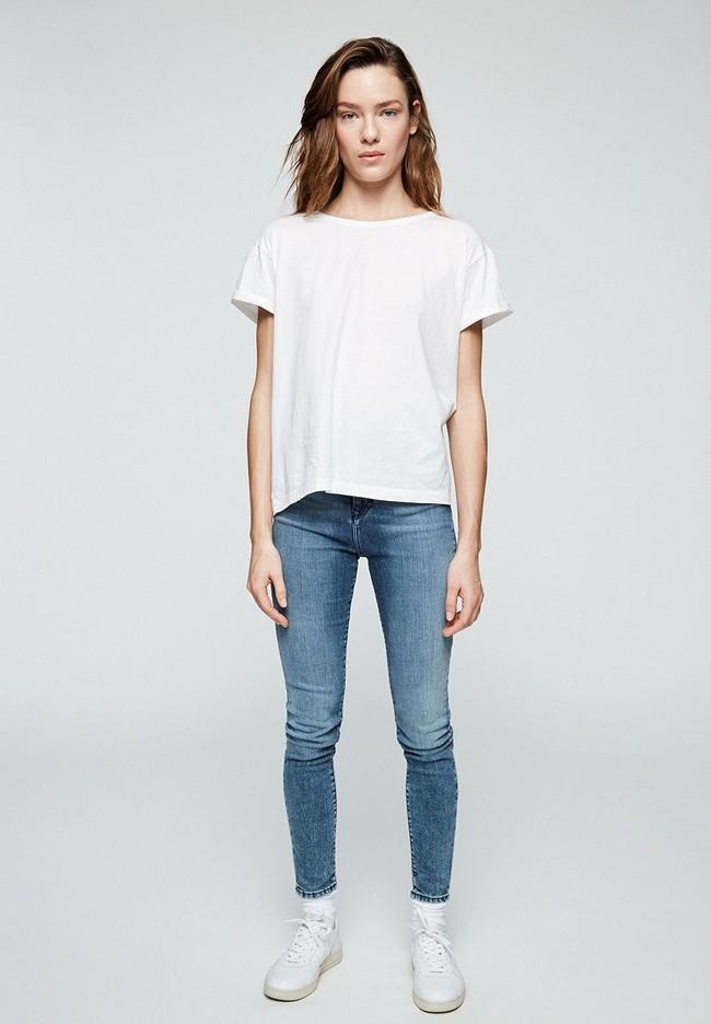 T-shirt avec nœuds blanc en coton bio - ilkaa - Armedangels num 1