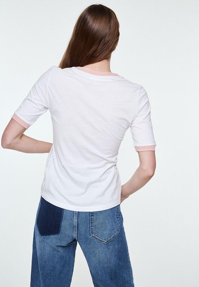 T-shirt imprimé blanc en coton bio - emmaa diversity - Armedangels num 1