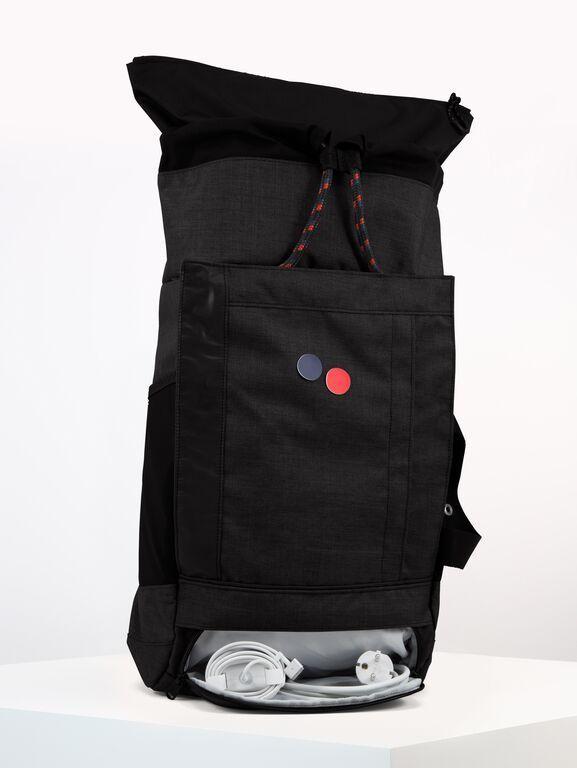 Sac à dos noir anthracite recyclé - blok medium anthracite melange - pinqponq num 5