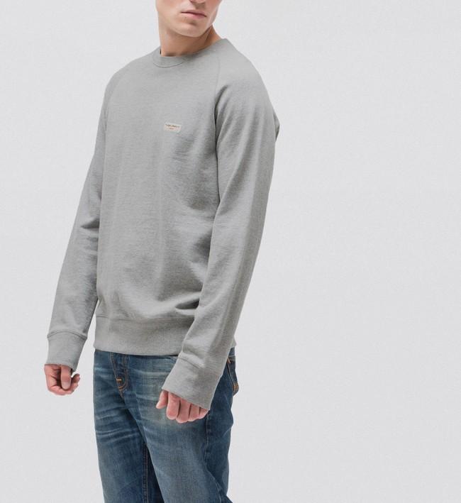 Sweat gris en coton bio - samuel - Nudie Jeans num 2