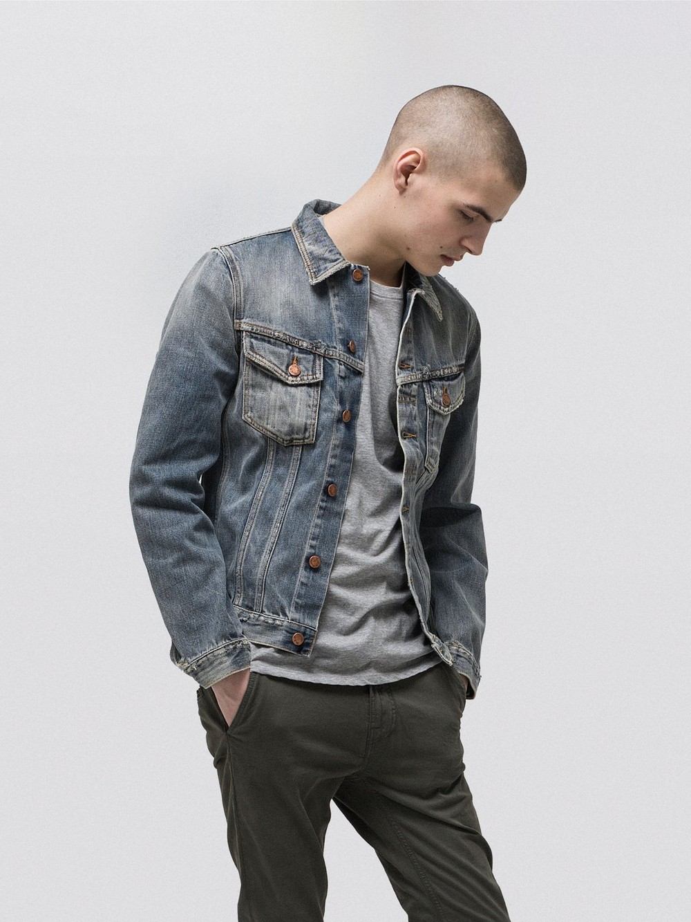 Veste en jean coton bio - billy shimmering - Nudie Jeans