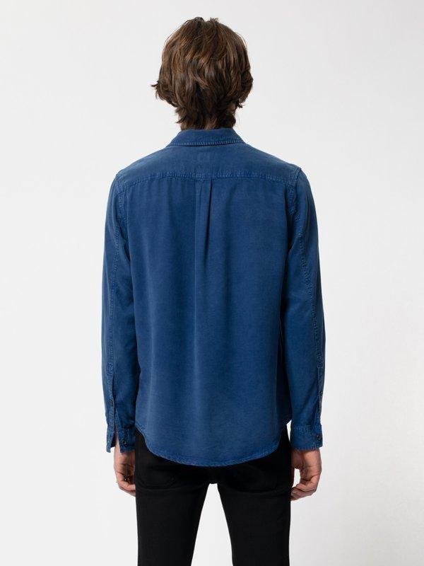 Chemise bleue en twill  - chuck smooth - Nudie Jeans num 1