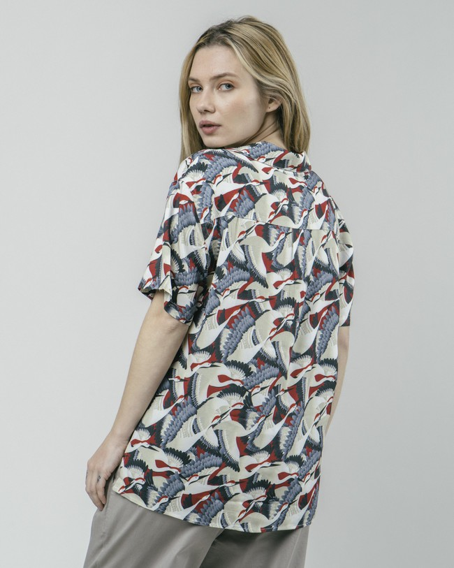 Crane for luck aloha blouse - Brava Fabrics num 5