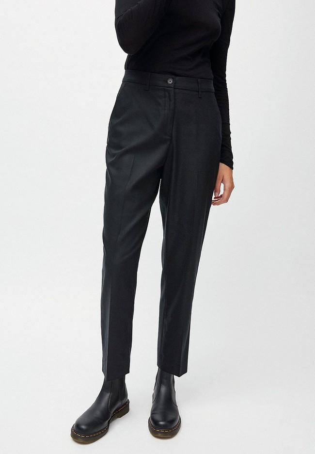 Pantalon à pinces noir en tencel - herttaa - Armedangels