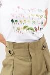 T-shirt motif jardin vert - Bleu Tango - 4