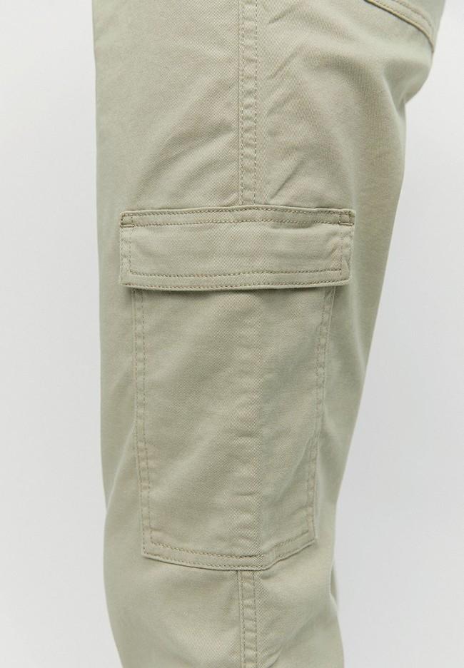 Pantalon cargo vert pâle en coton bio - virginiaa - Armedangels num 3