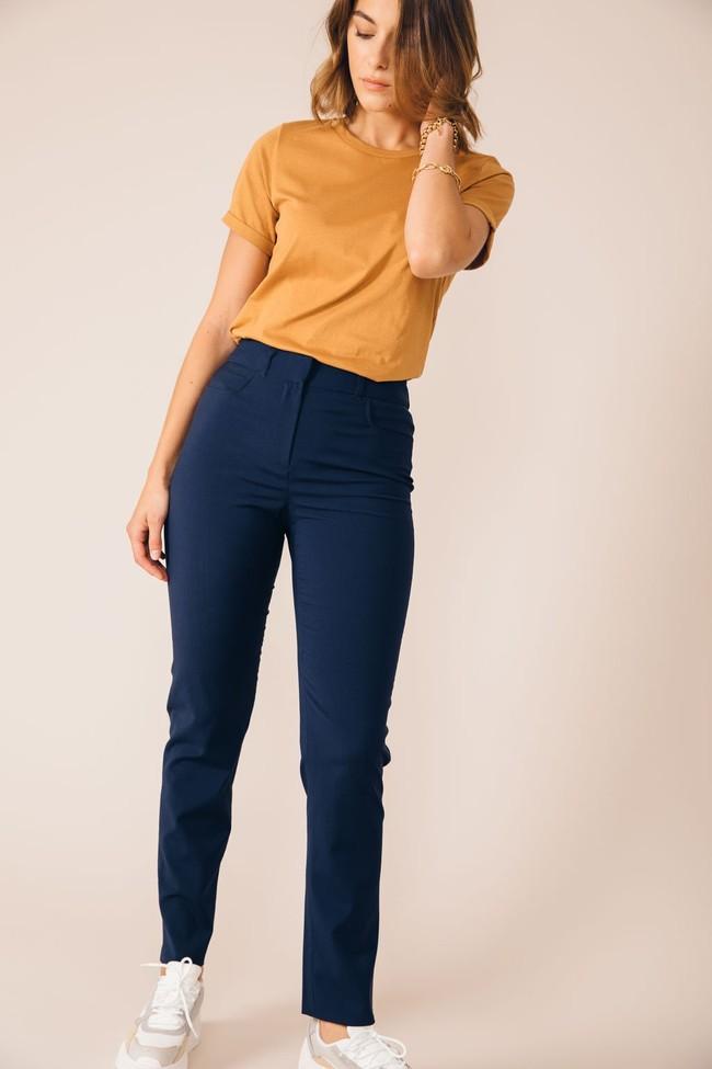 Pantalon tailleur new-york bleu marine - 17h10