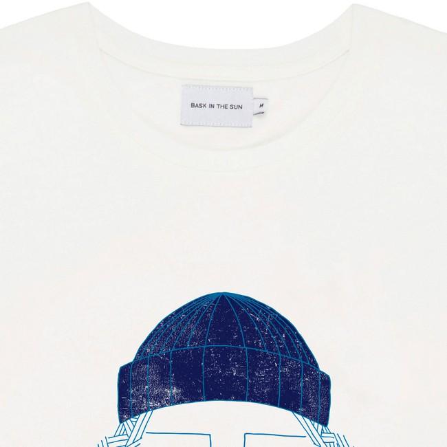 T-shirt en coton bio natural smoking pipe - Bask in the Sun num 1