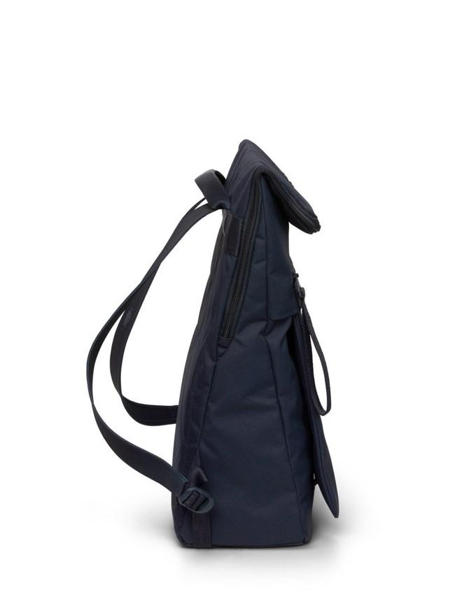 Sac à dos bleu marine en plastique recyclé - klak all - pinqponq num 1