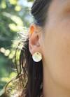 Boucles d'oreilles pilea (bébé) en argent recyclé - Elle & Sens - 4