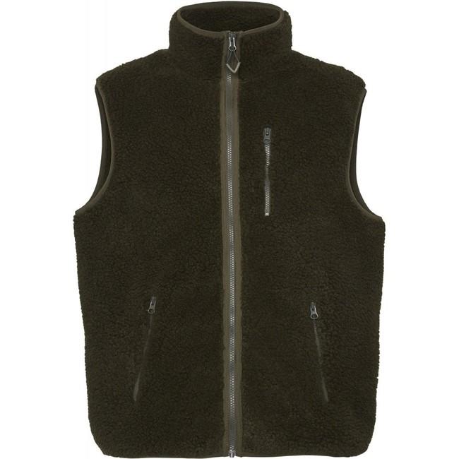 Veste polaire sans manches verte en polyester recyclé - Knowledge Cotton Apparel