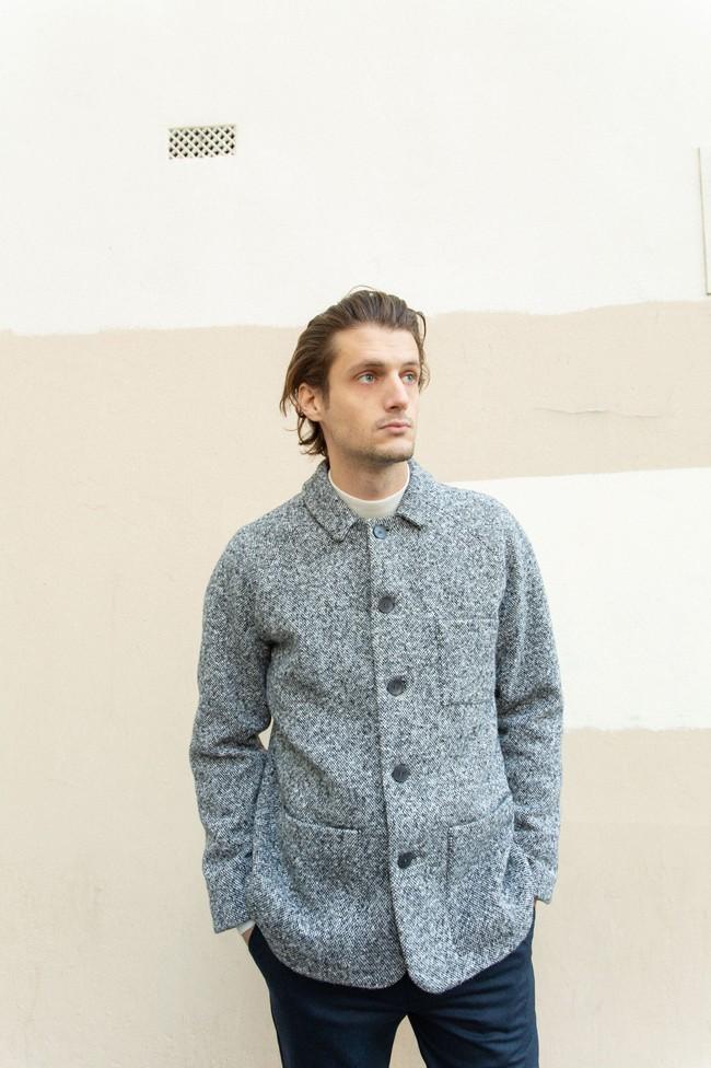 Veste sapporo laine poivrée - Noyoco num 6