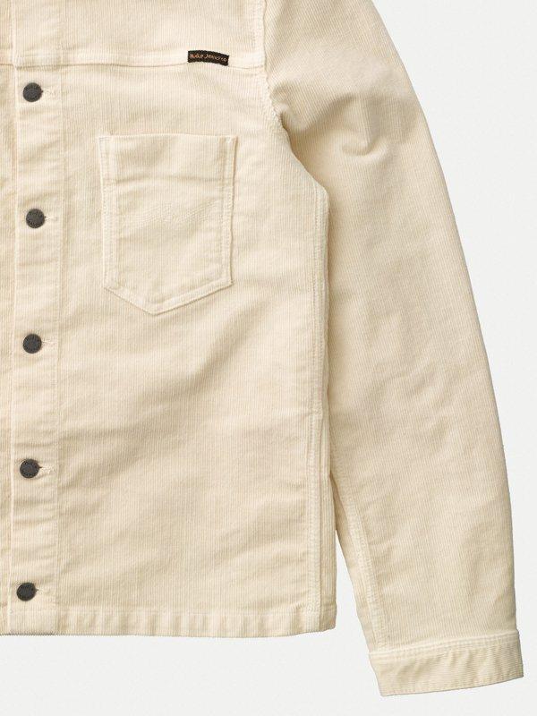 Veste en velours écru en coton bio - ronny - Nudie Jeans num 5