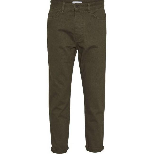 Pantalon chino ample vert forêt en coton bio - bob - Knowledge Cotton Apparel