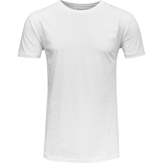 T-shirt blanc en coton bio - Knowledge Cotton Apparel