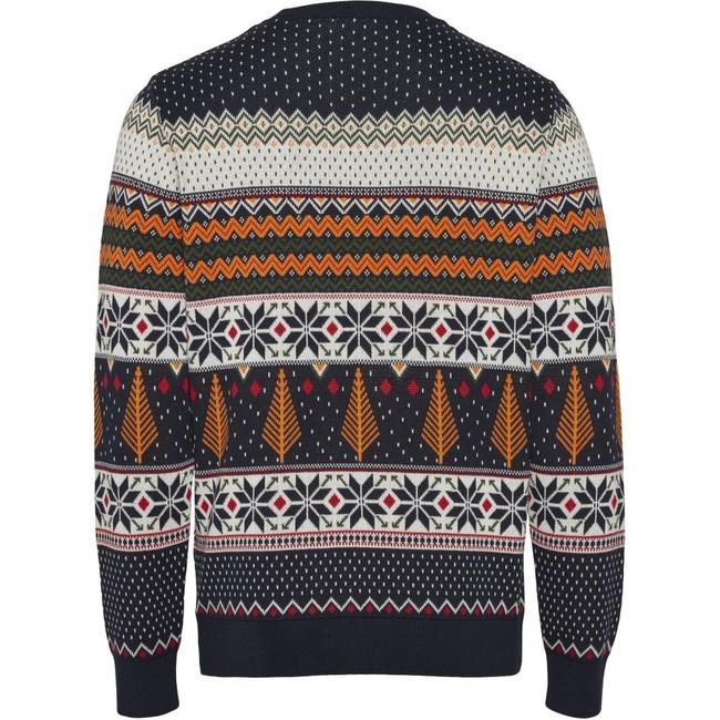 Pull à motifs en coton bio - xmas knit - Knowledge Cotton Apparel num 1