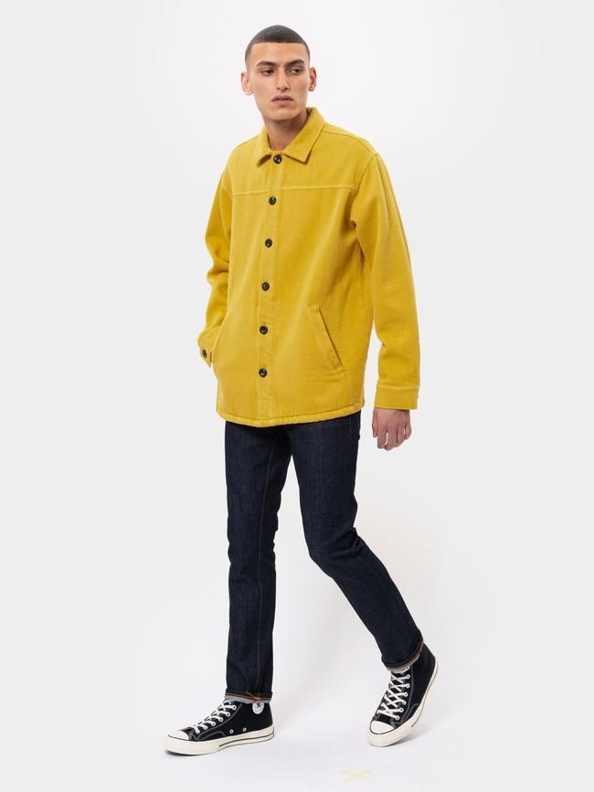 Surchemise jaune twill en coton bio - elias - Nudie Jeans num 2