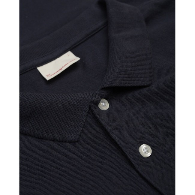 Polo bleu nuit en coton bio - Knowledge Cotton Apparel num 2