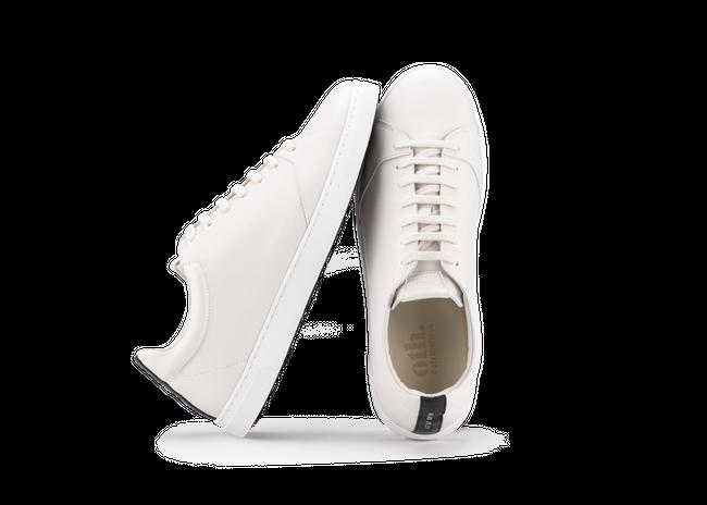 Chaussure en gravière cuir crème / semelle blanc - Oth num 1