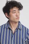 Chemise manches courtes rayée en coton bio - tom - Thinking Mu - 4