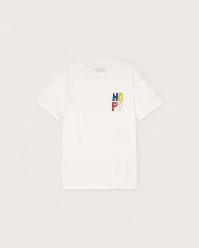 T-shirt blanc imprimé en coton bio - hope - Thinking Mu num 4