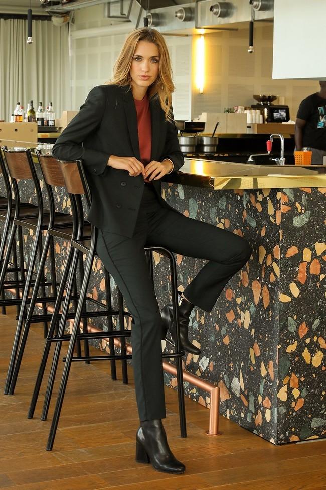 Pantalon tailleur new-york vert profond - 17h10 num 3