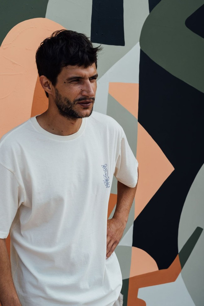 T-shirt recyclé - nils inne beige chiné - Hopaal num 1