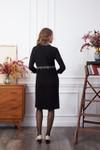 Robe jersey noir paillettes - Les Récupérables - 2