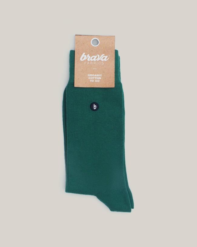 Organic cotton socks green - Brava Fabrics