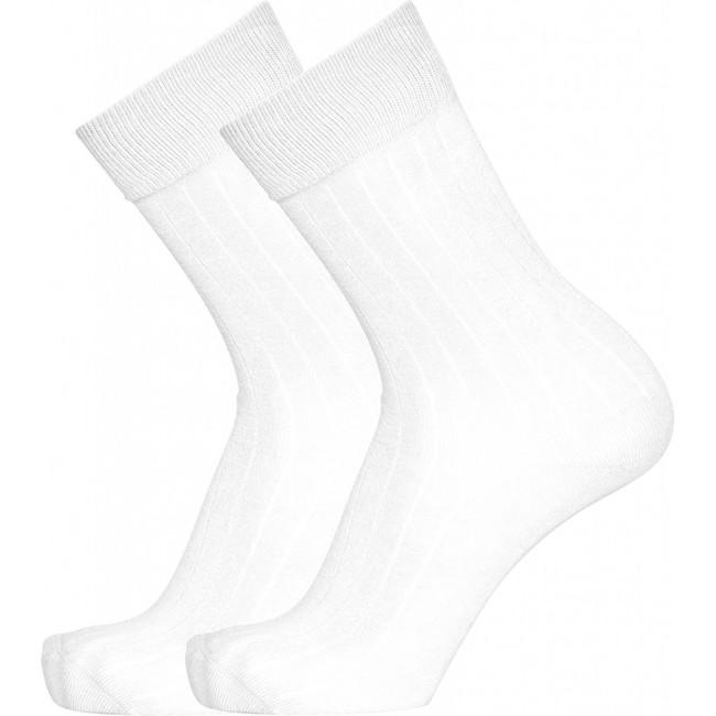 Pack 2 paires de chaussettes blanches en coton bio - timber - Knowledge Cotton Apparel