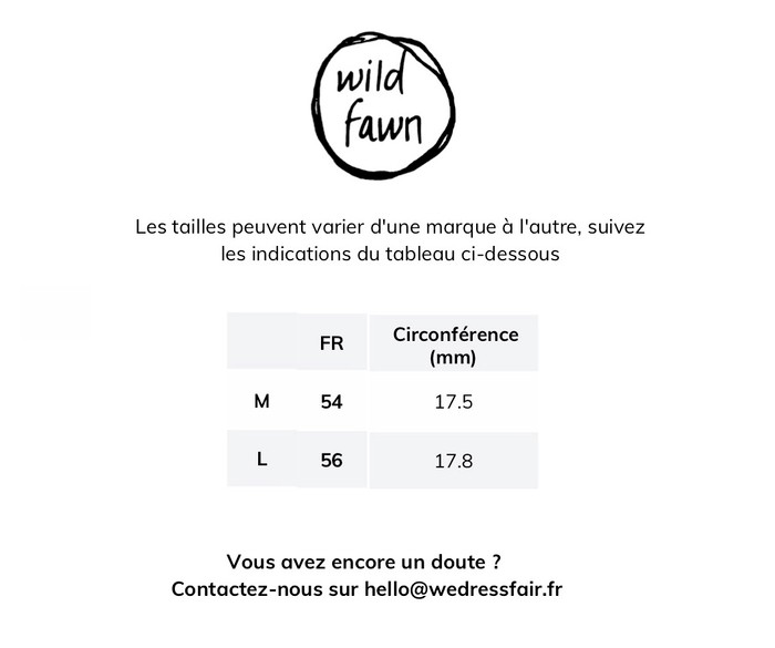 Guide de taille Wild fawn