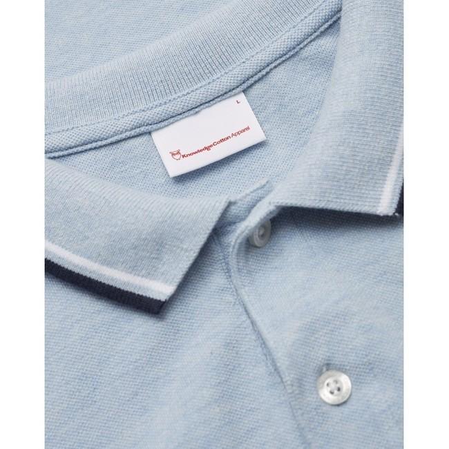 Polo bleu ciel en coton bio - rowan - Knowledge Cotton Apparel