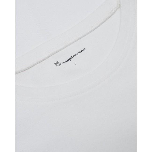 T-shirt ample blanc en coton bio - Knowledge Cotton Apparel num 2