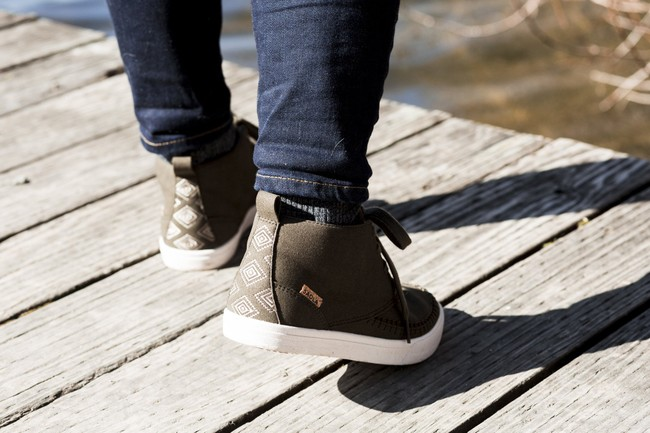 Chaussures recyclées atacama ll olive night - Saola num 3