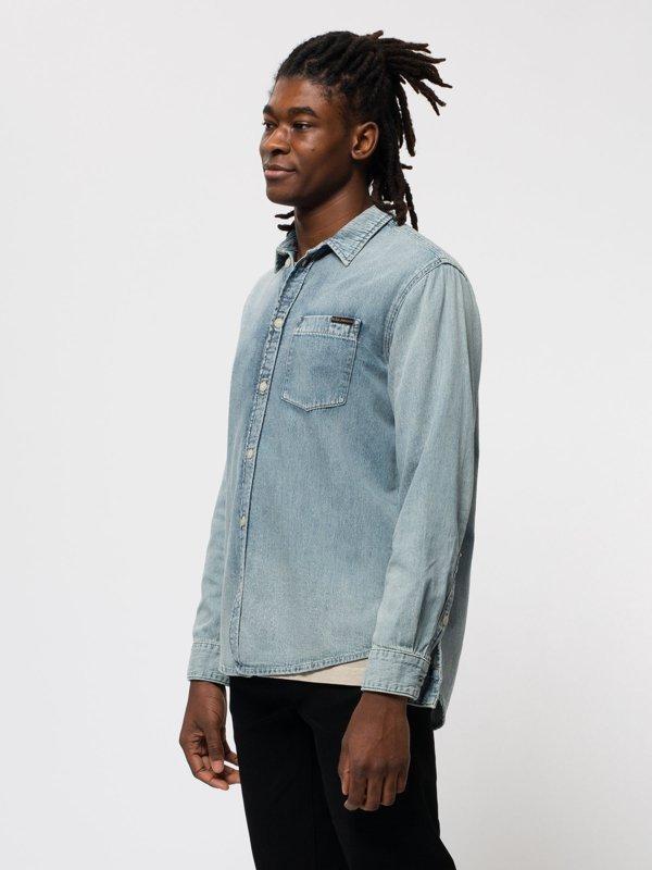 Chemise jean en coton bio - albert - Nudie Jeans num 1