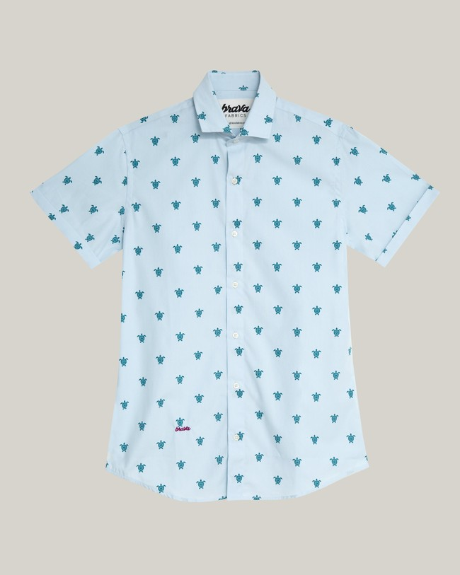 Turtle with love printed shirt - Brava Fabrics num 2