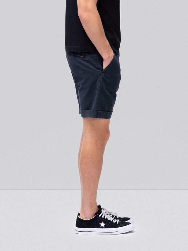 Short marine en coton bio - luke - Nudie Jeans num 1