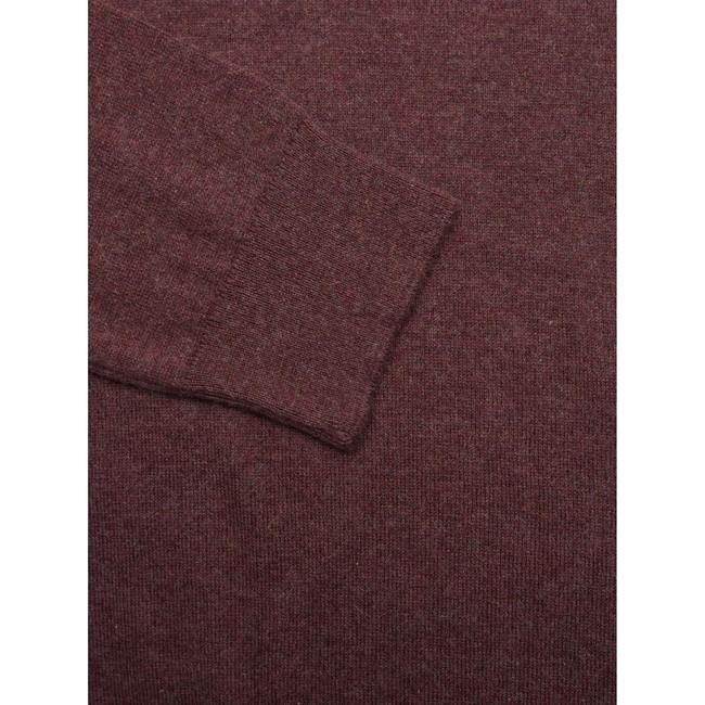 Pull bordeaux en coton bio et cachemire - basic o-neck - Knowledge Cotton Apparel num 2